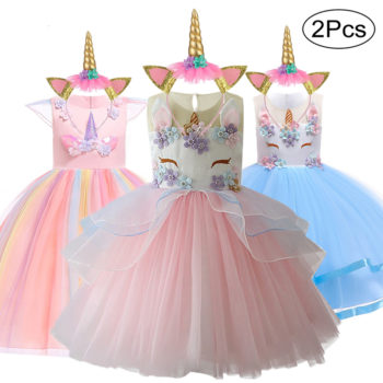 Unicorn Tutu with Unicorn Headband for Kids