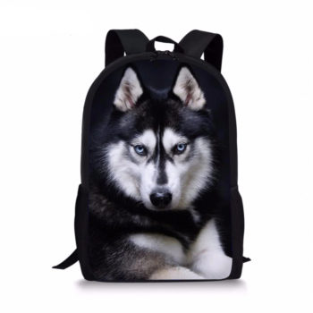 3D Husky Backpack Bag
