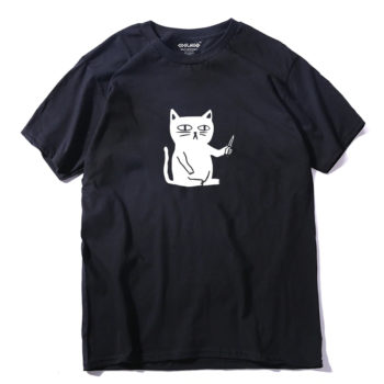 Cat With Knife T-shirt