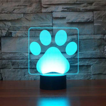 Dog Paw Table Lamp