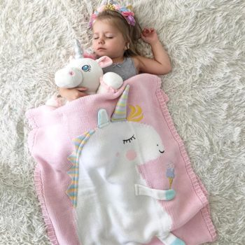 Unicorn Flamingo Deer Baby Blanket
