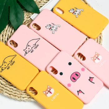 Cute Soft Matte Phone Case for iPhone