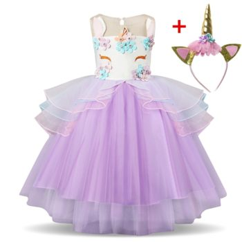 Fancy Pastel Girls Unicorn Tutu Dress