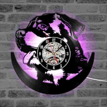 Dogs and Cats 3D LED Wall Clock