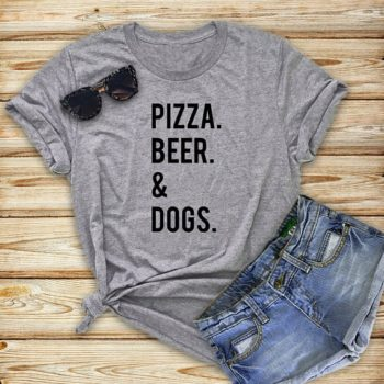 Pizza, Beer and Dogs T-Shirt