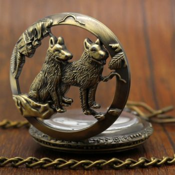 Wolf Dogs Pocket Watch