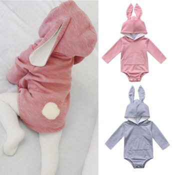 Hooded Bunny Onesie for Babies