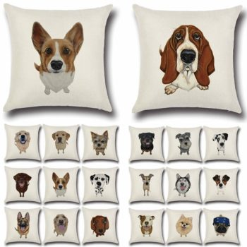 Funny Dogs Painting Pillowcase