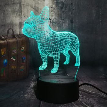3D LED French Bulldog Night Light