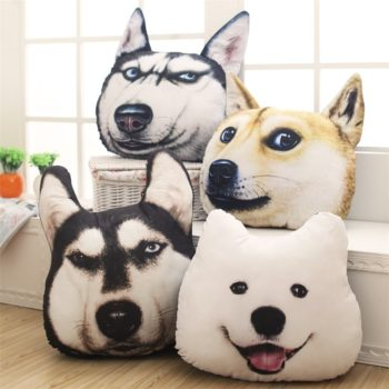 Funny 3D Dogs Pillow