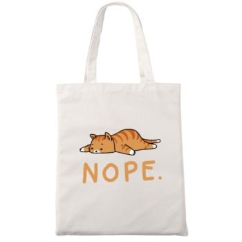 Nope Cat Tote Bag