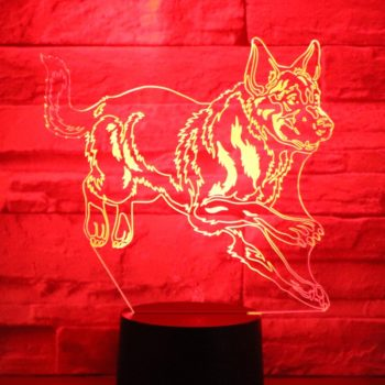 3D LED Night Light German Shepherd