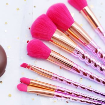 pink and purple unicorn makeup brushes set  pet lovers home